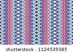 ikat seamless pattern. vector... | Shutterstock .eps vector #1124539385