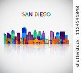 San Diego Skyline Silhouette I...