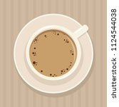 coffee. a cup of coffee and... | Shutterstock .eps vector #1124544038