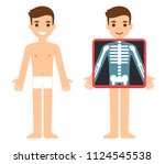 cartoon male character getting... | Shutterstock . vector #1124545538