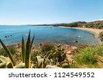 blue sea in santa maria... | Shutterstock . vector #1124549552
