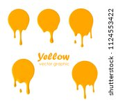 dripping paint round icons.... | Shutterstock .eps vector #1124553422