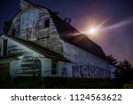 horizontal image old barn with... | Shutterstock . vector #1124563622