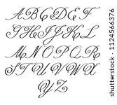 elegant calligraphy letters...   Shutterstock .eps vector #1124566376