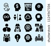 filled set of 16 people icons... | Shutterstock .eps vector #1124567336