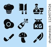 filled food icon set such as... | Shutterstock .eps vector #1124573426