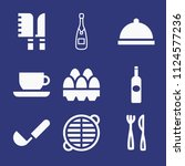filled food icon set such as... | Shutterstock .eps vector #1124577236