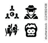 filled people icon set such as... | Shutterstock .eps vector #1124582438