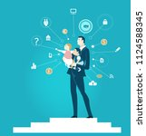 successful businessman and...   Shutterstock .eps vector #1124588345