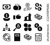 filled business icon set such...   Shutterstock .eps vector #1124589686