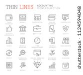collection of accounting and...   Shutterstock .eps vector #1124594048