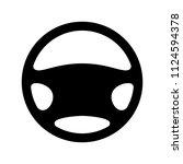 steering wheel icon | Shutterstock .eps vector #1124594378