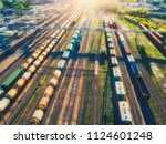 aerial view of freight cargo... | Shutterstock . vector #1124601248