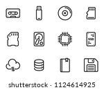 set of black vector icons ... | Shutterstock .eps vector #1124614925