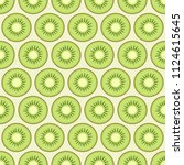 kiwi slices seamless pattern.... | Shutterstock .eps vector #1124615645