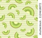 kiwi slices seamless pattern....   Shutterstock .eps vector #1124618072