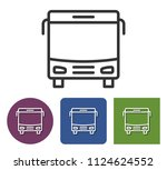 line icon of bus in different... | Shutterstock . vector #1124624552