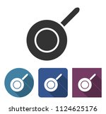 frypan icon in different... | Shutterstock . vector #1124625176