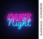 quiz night announcement poster... | Shutterstock . vector #1124628548