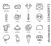 set of 16 icons such as baby ...