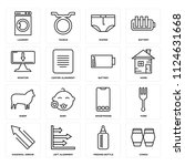 set of 16 icons such as conga ...