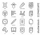 set of 16 icons such as file ...