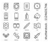 set of 16 icons such as syringe ...