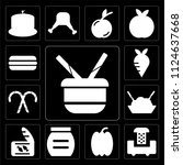set of 13 simple editable icons ... | Shutterstock .eps vector #1124637668