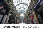 leeds  uk   june 26  2018 ... | Shutterstock . vector #1124642318