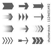 flat design vector black arrow... | Shutterstock .eps vector #1124651492