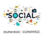 modern vector illustration... | Shutterstock .eps vector #1124654522