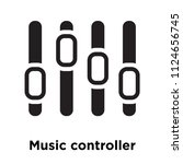 music controller icon vector... | Shutterstock .eps vector #1124656745