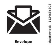 envelope icon vector isolated... | Shutterstock .eps vector #1124656805