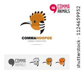 Hoopoe Bird Concept Icon Set...