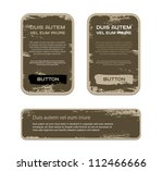 a set of brown vector vintage... | Shutterstock .eps vector #112466666