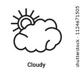cloudy icon vector isolated on... | Shutterstock .eps vector #1124671505
