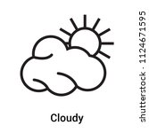 cloudy icon vector isolated on... | Shutterstock .eps vector #1124671595