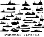 set of 28 silhouettes of the... | Shutterstock .eps vector #112467416