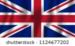 united kingdom realistic waving ... | Shutterstock .eps vector #1124677202