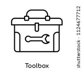 toolbox icon vector isolated on ... | Shutterstock .eps vector #1124677712