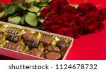 a group of valentine's day... | Shutterstock . vector #1124678732