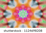illustration of mosaic images ... | Shutterstock . vector #1124698208