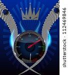 checkered flag  speedometer....   Shutterstock .eps vector #112469846