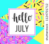 hello luly sale banner for... | Shutterstock .eps vector #1124701712