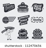 retro vintage labels | Shutterstock .eps vector #112470656