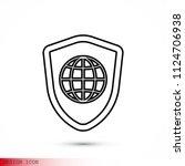 shield icon  stock vector... | Shutterstock .eps vector #1124706938