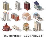 big set low poly vectors of... | Shutterstock .eps vector #1124708285