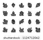 crystal silhouette icons set.... | Shutterstock .eps vector #1124712062