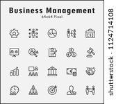 thin line icons set of business ... | Shutterstock .eps vector #1124714108
