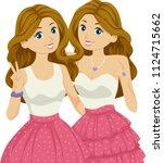 illustration of teenage girl... | Shutterstock .eps vector #1124715662
